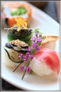 ベジタブル手まり寿司の献立