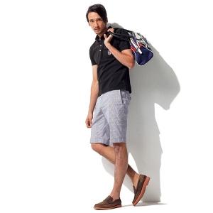 ハーフパンツの夏の着こなし