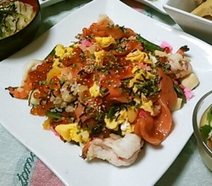 チラシ寿司の献立