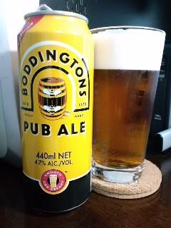 ビールの種類はボディントン パブエール