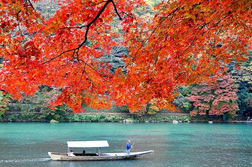 京都観光の穴場スポットは嵐山の屋形船