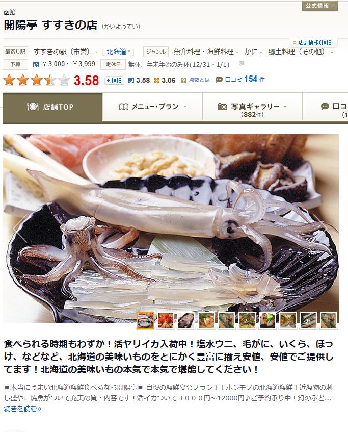 札幌旅行の魚料理は期待外れ
