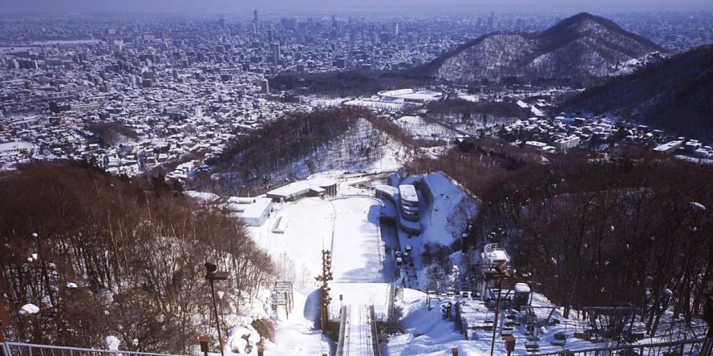 札幌旅行は大倉山ジャンプ台の展望台