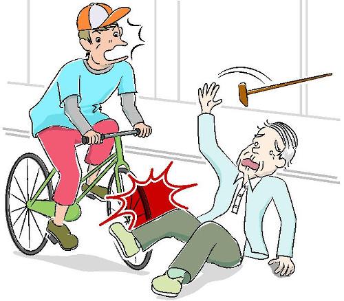 自転車の事故はお子様だけではなく、大人になってもありえる話です