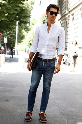 春のおすすめメンズファッションは白シャツ