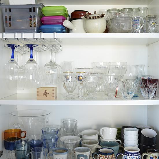 グラスラック食器棚のデッドスペース